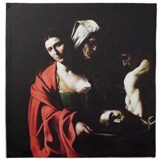 Caravaggio - Salome - klassische barocke Grafik Serviette