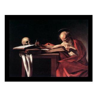 Caravaggio St Jerome Postkarte