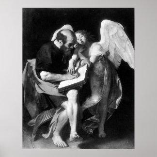 Caravaggio St Matthew und der Engel Plakate