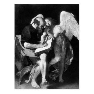 Caravaggio- St Matthew und der Engel Postkarte