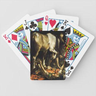 Caravaggio - Umwandlung auf der Weise nach Bicycle Spielkarten