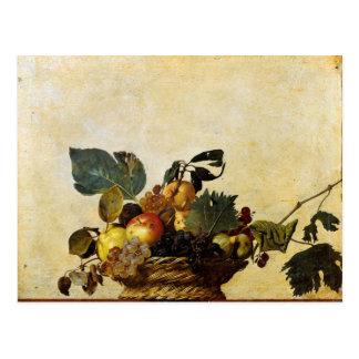 Caravaggios Korb der Frucht Postkarte