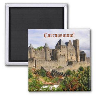 Carcassonne-Festung in Frankreich Quadratischer Magnet