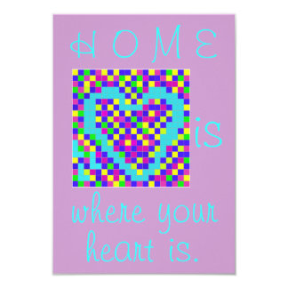 CARD.205.HOME.MOVE 8,9 X 12,7 CM EINLADUNGSKARTE
