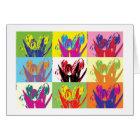 Card colorful tulips karte