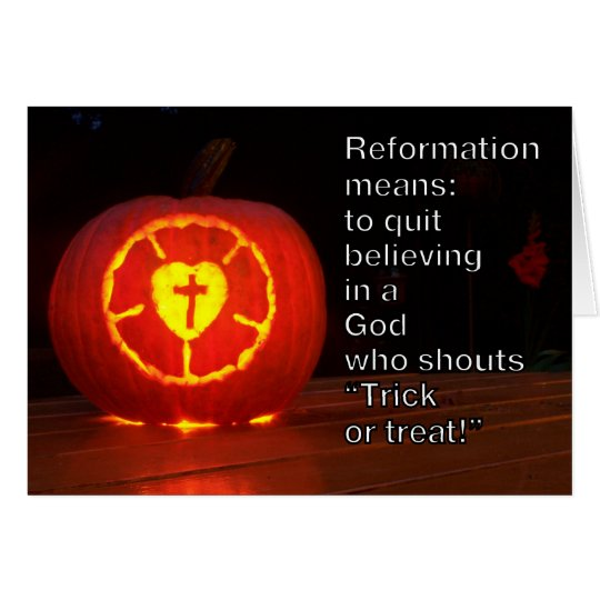 Card Reformation and Halloween Karte