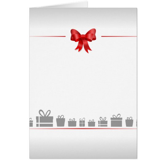 Card with bow and gifts karte