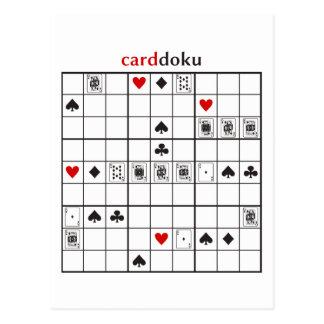 cardoku Diamant-Royal Flush Postkarte