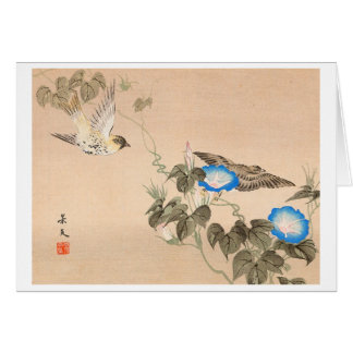 Cardueline Fink und Winde Keibun Matsumo Karte