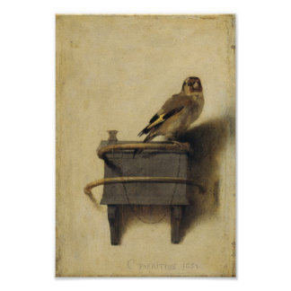 Carel Fabritius der Goldfinch Poster
