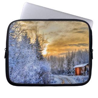 Cariboo Natur-Landschaftswinter-Sonnenaufgang Laptopschutzhülle