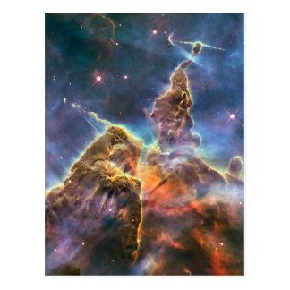 Carina-Nebelfleck durch das Hubble Postkarte
