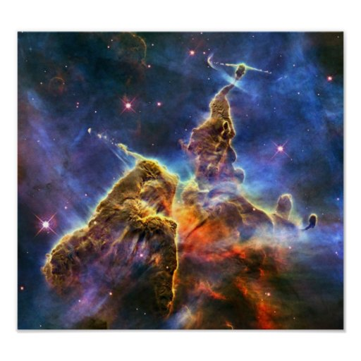 Carina-Nebelfleck (Hubble Teleskop) Plakat