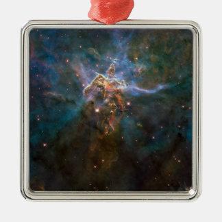 Carina-Nebelfleck Quadratisches Silberfarbenes Ornament