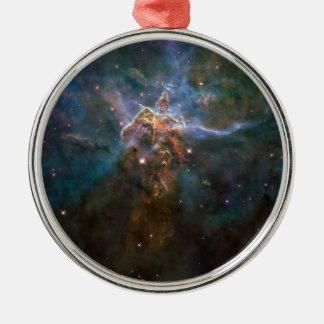Carina-Nebelfleck Rundes Silberfarbenes Ornament