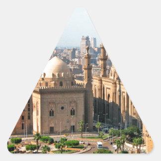 Cario Ägypten Skyline Dreieckiger Aufkleber
