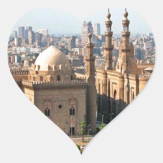 Cario Ägypten Skyline Herz-Aufkleber