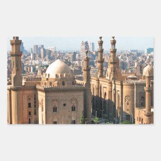 Cario Ägypten Skyline Rechteckiger Aufkleber
