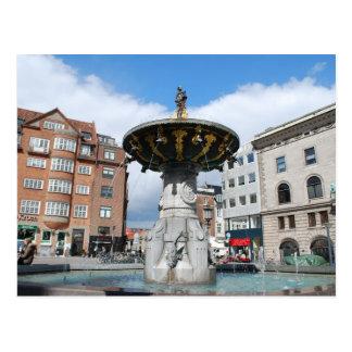 Caritas wohler Brunnen Kopenhagen Dänemark Postkarte