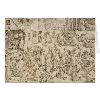 Caritas (Wohltätigkeit) durch Pieter Bruegel das Grußkarte