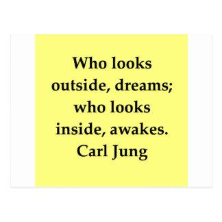 Carl Jung Zitat Postkarte