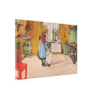 Carl Larsson die Küche Leinwanddruck