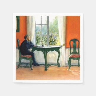 Carl Larsson - erforderliche Lesung Papierserviette