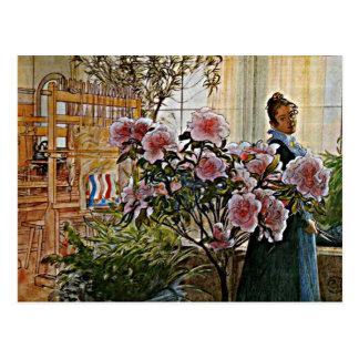 Carl Larsson-Kunst: Azalee Postkarte