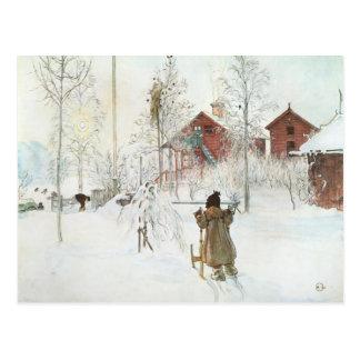 Carl Larsson-Vorgarten und das Wäsche-Haus Postkarte