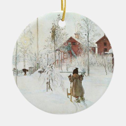 Carl Larsson-Weihnachten in Schweden Ornamente