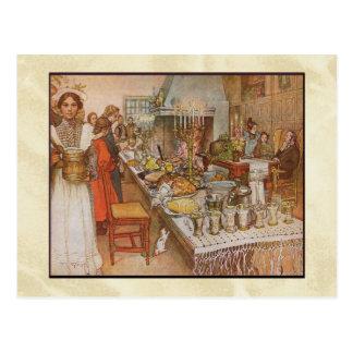 Carl Larsson-Weihnachtsabends-Abendessen Postkarten