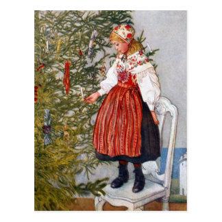 Carl Larsson-Weihnachtsbaum-Postkarten-Postkarte Postkarte