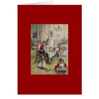 Carl Larsson-Weihnachtsmorgen 1894 Grußkarte