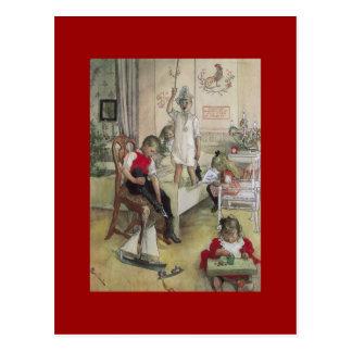 Carl Larsson-Weihnachtsmorgen 1894 Postkarten