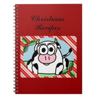 Carla-Kuh-Weihnachtsnotizbuch/Rezept-Buch Notizblock