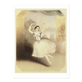 Carlotta Grisi (1819-99) im Ballett des Peri Postkarte