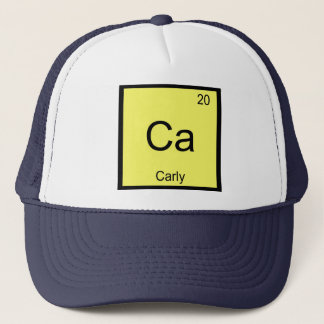 Carly Namenschemie-Element-Periodensystem Truckerkappe