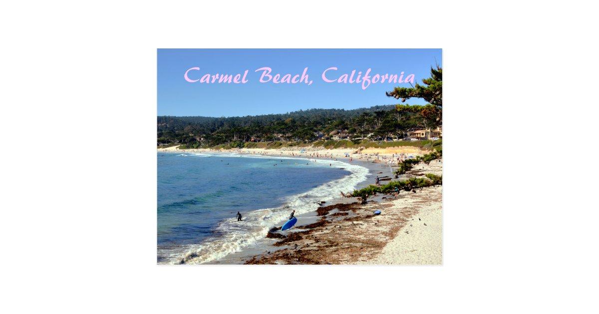 carmel beach california postkarte. Black Bedroom Furniture Sets. Home Design Ideas