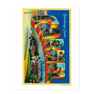 Carmel, Kalifornien - große Buchstabe-Szenen Postkarten