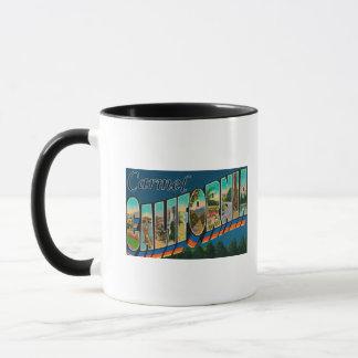 Carmel, Kalifornien - große Buchstabe-Szenen Tasse