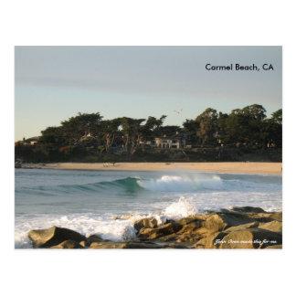 Carmel Strand durch John-Ofen Postkarte
