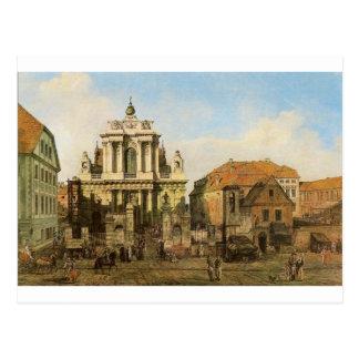 Carmelite Kirche in Warschau durch Bernardo Postkarte