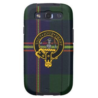Carmichael schottisches Wappen und Tartan S3 rufen Samsung Galaxy S3 Schutzhülle