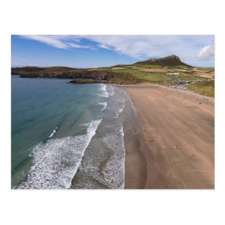 Carn Llidi und Whitesands Bucht Wales Postkarte