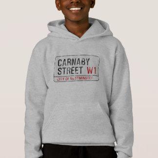 Carnaby Straßenschild (getragener Blick) Hoodie