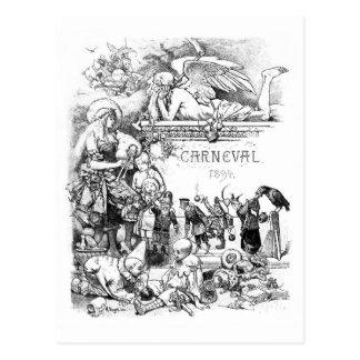 Carneval 1894 Vintage Postkarte