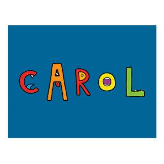 """Carol"" Monster-Buchstaben Postkarten"