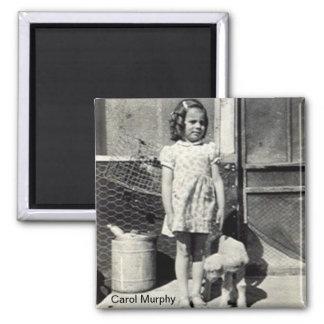Carol- und Lammmagnet Quadratischer Magnet