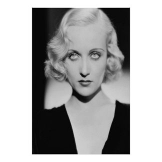 Carole Lombard-Augen Poster