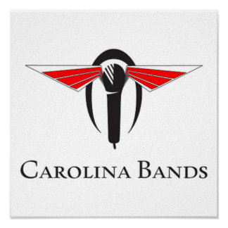 Carolina-Bänder leben Poster